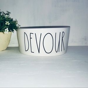 🆕 Rae Dunn Pet Dog Bowl DEVOUR